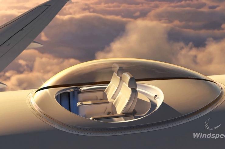 O melhor lugar no avião